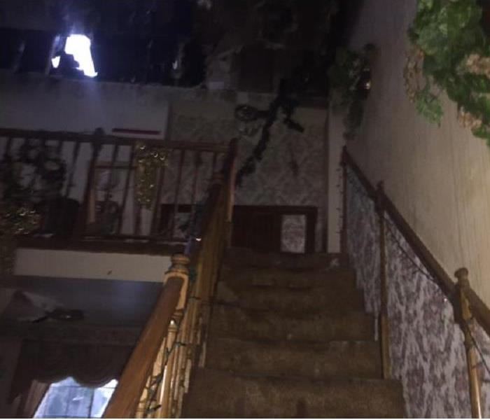 Stairway Damaged By Fire