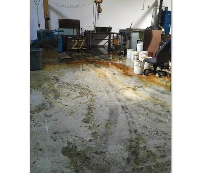Warehouse Oil Spill