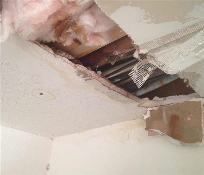 ceiling caving in