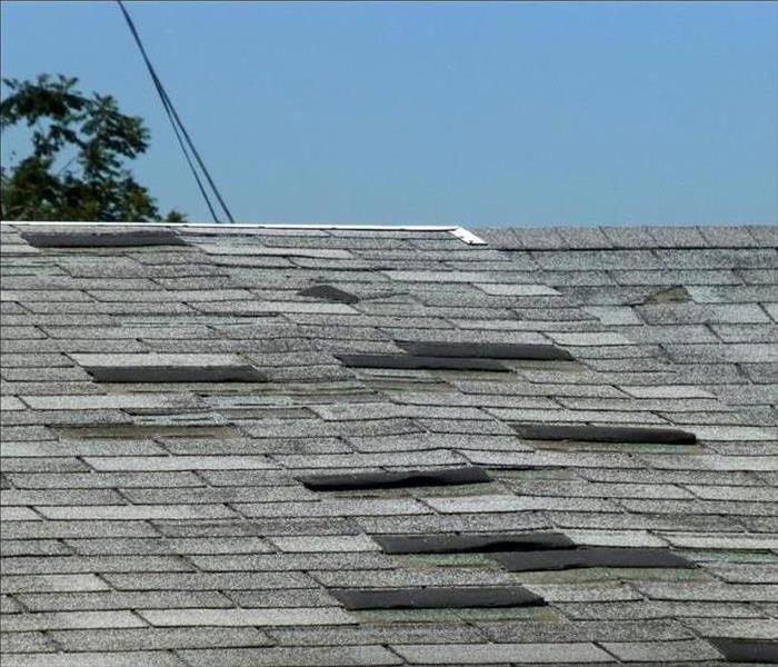 roof shingle missing from a roof